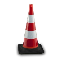 rubber cone fully reflective high intensity - Road safety systems
