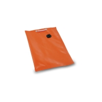 orange empty bag - Traffic signaling system